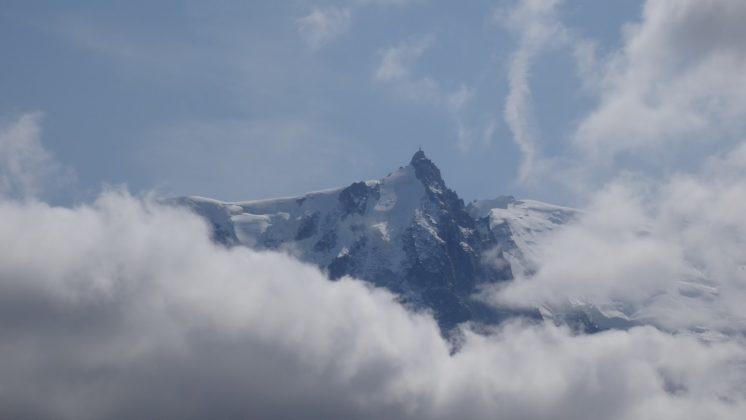 Aiguille du Midi, wolkenumhüllt