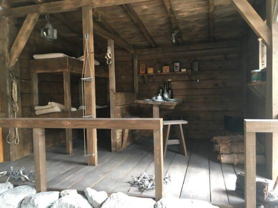 Alpin Museum Chamonix, Nachbau einer alten Berghütte