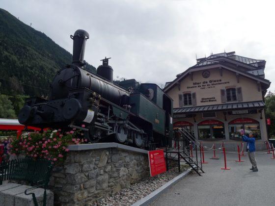 Bahnhof des Train du Montenvers in Chamonix