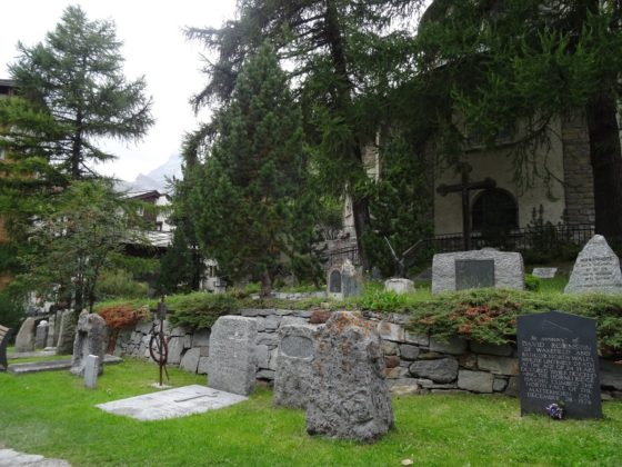 Bergsteigerfriedhof in Zermatt
