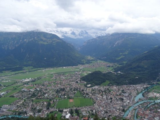 Blick vom Harder Kulm auf Interlaken