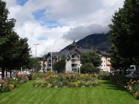 Blumenbeet in Chamonix