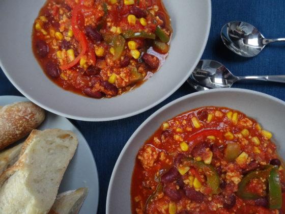 Camping-Küche: Chili con Tofu