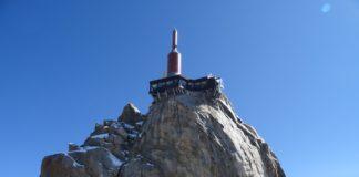 Die Spitze der Aiguille du Midi