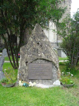 Grab des unbekannten Bergsteigers in Zermatt