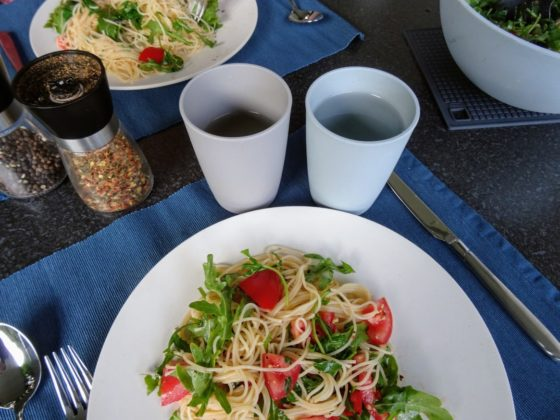 Camping-Rezept: Rucola-Pasta