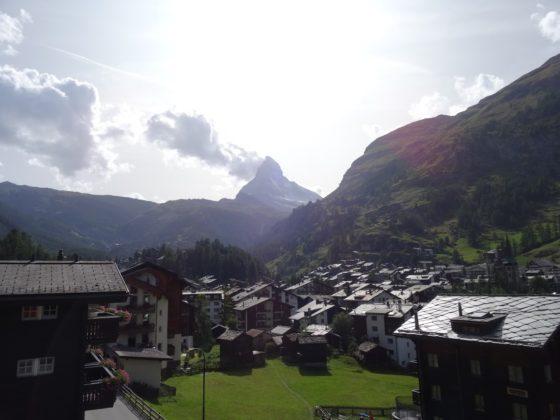 Die alten Holzhäuser von Zmutt, Nähe Zermatt