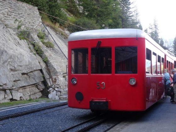 Der rote Train du Montenvers