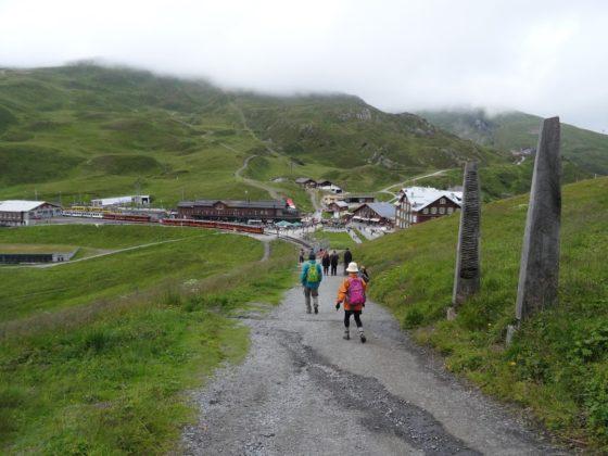 Blick auf Kleine Scheidegg