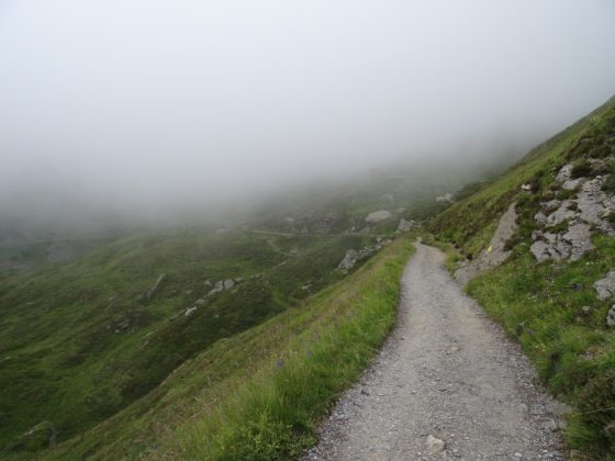 Panoramaweg zwischen Männlichen und Kleiner Scheidegg