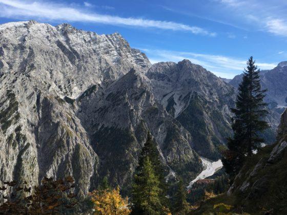 Hochalm: Blick auf die Watzmann Westwand