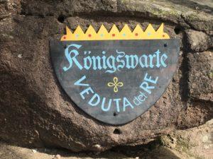Königswarte am Rundweg Laranz in Seis