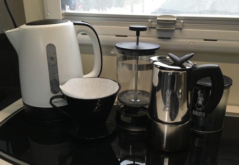 Kaffe-Kochen im Wohnmobil