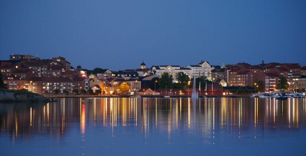Karlskrona bei Nacht
