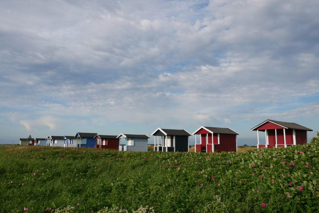 Bunte Hütten auf Falsterbo